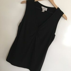 Joseph Ribkoff | Black V-neck Tank Top | Size 12